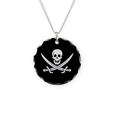 Calico Jack Pirate Necklace Circle Charm
