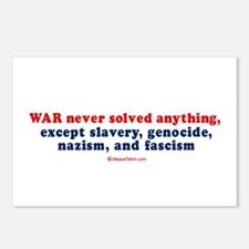War never solved anything -  Postcards (Package of