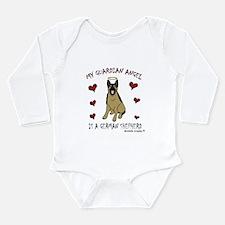 german shepherd Long Sleeve Infant Bodysuit