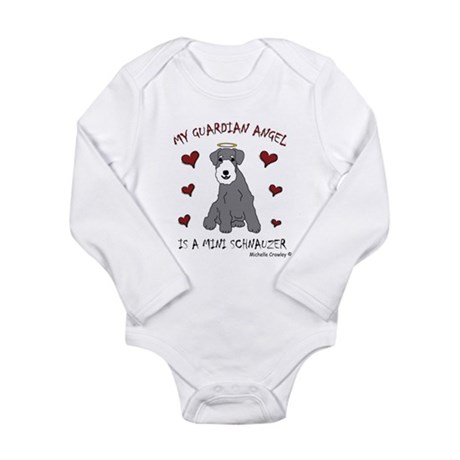 miniature schnauzer Long Sleeve Infant Bodysuit