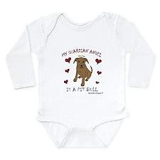 pit bull Long Sleeve Infant Bodysuit