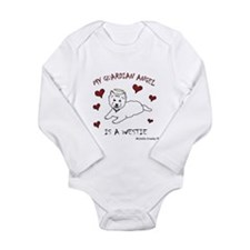 westie Long Sleeve Infant Bodysuit