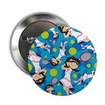 "Cute Little Tennis Girl 2.25"" Button (100 Pk)"