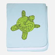 Turtle Robot baby blanket
