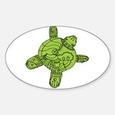 Turtle Robot Sticker (Oval)