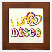 I Love Disco Framed Tile