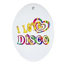 I Love Disco Ornament (Oval)