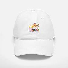 I Love Disco Baseball Baseball Cap