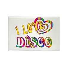 I Love Disco Rectangle Magnet