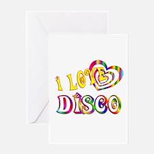 I Love Disco Greeting Card
