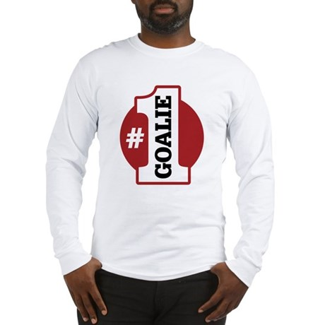 #1 Goalie Long Sleeve T-Shirt