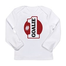 #1 Goalie Long Sleeve Infant T-Shirt
