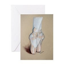Ballet Pointe Shoes Greeting Card