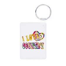 I Love Country Keychains