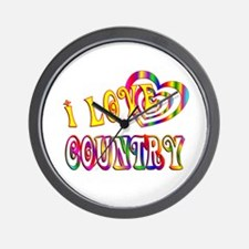 I Love Country Wall Clock