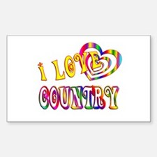 I Love Country Decal