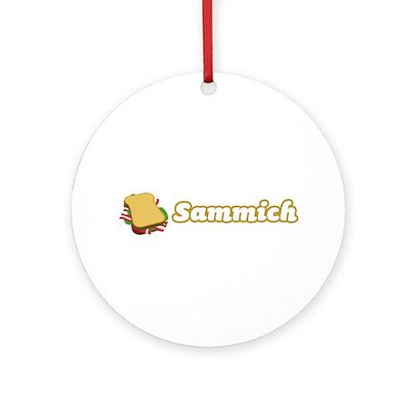Sammich Ornament (Round)