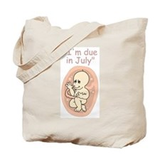 July Due date baby cartoon Tote Bag