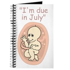 July Due date baby cartoon Journal