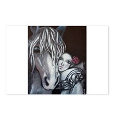 Pierrot and Horse Postcards (Package of 8)