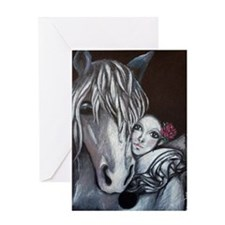 Pierrot and Horse Greeting Card
