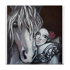 Pierrot and Horse Tile Coaster