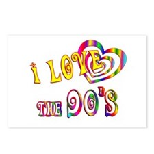 I Love the 90s Postcards (Package of 8)