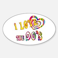 I Love the 90s Sticker (Oval)