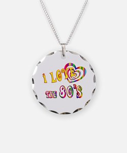 I Love the 80s Necklace