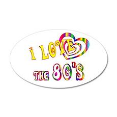I Love the 80s 22x14 Oval Wall Peel