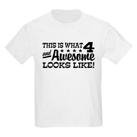 Funny Four Year Old Kids Light T-Shirt