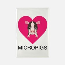 Love Micropigs Rectangle Magnet