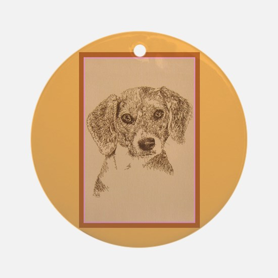 Beagle Ornament (Round)