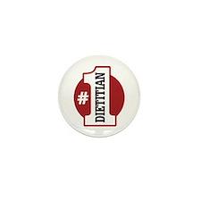 #1 Dietitian Mini Button (10 pack)