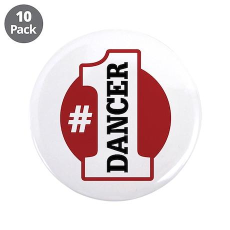 "#1 Dancer 3.5"" Button (10 pack)"