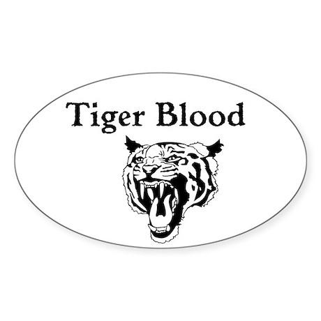Tiger Blood Custom Sticker (Oval)
