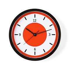 <b>BASIC COLOR CLOCKS:</b> Red Wall Clock