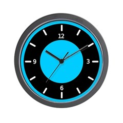 <b>BASIC COLOR CLOCKS:</b> Blue & Black Wall Clock