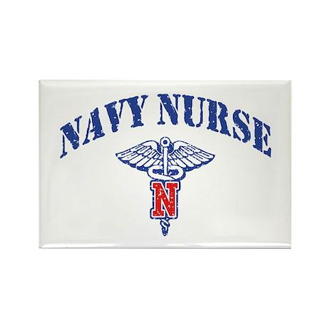 Navy Nurse Rectangle Magnet