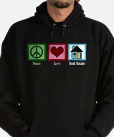 Peace Love Real Estate Hoodie (dark)