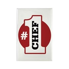 #1 Chef Rectangle Magnet (100 pack)