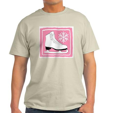 Pink Ice Skate Light T-Shirt