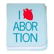 I Heart Abortion baby blanket