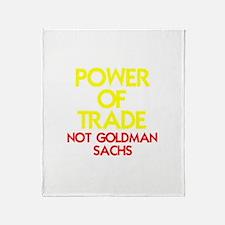POWER OF TRADE-NOT GOLDMAN SA Throw Blanket