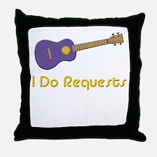 funny ukulele Throw Pillow