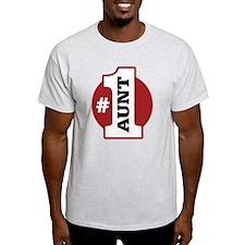 #1 Aunt T-Shirt