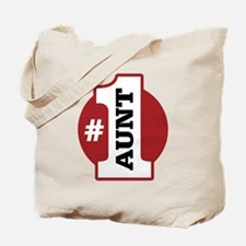 #1 Aunt Tote Bag