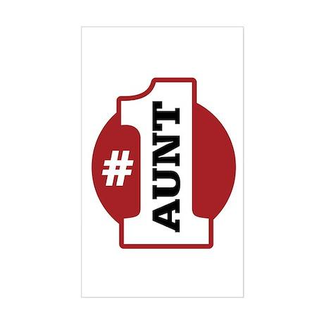 #1 Aunt Sticker (Rectangle)