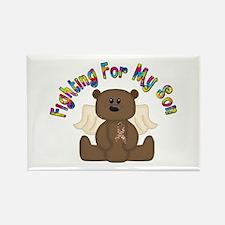 Autism Bear- 4 Son Rectangle Magnet