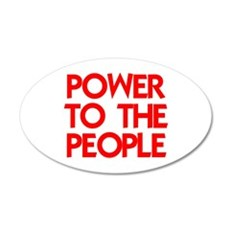 POWER TO THE PEOPLE 22x14 Oval Wall Peel
